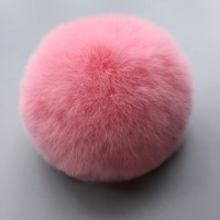 8cm High Quality Fur Ball Keychain Handbag  Charms Multicolor for choose