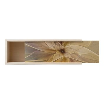 Floral Fantasy Pattern Abstract Fractal Art Wooden Keepsake Box