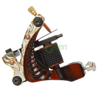 New Shader Gun Tattoo Machine 10 Wrap Coils Low-carbon Steel Red Black C-12