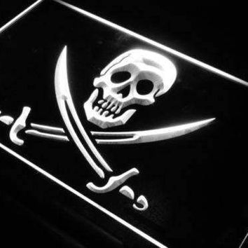 Skull Swords Pirate LED Neon Light Sign