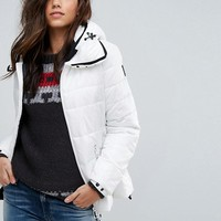 Replay Padded Jacket with Hood at asos.com