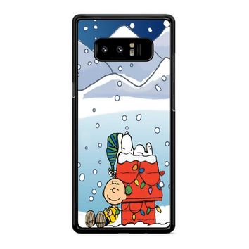 Charlie And Snoopy Brown Christmas Samsung Galaxy Note 8 Case