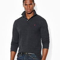 Polo Ralph Lauren Classic-Fit Long-Sleeved Mesh Polo Shirt - Marine He