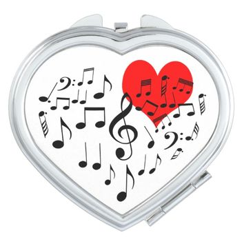Singing Heart one-of-a-kind funny Compact Mirror