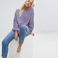 ASOS PETITE Jumper in Oversized Ripple at asos.com