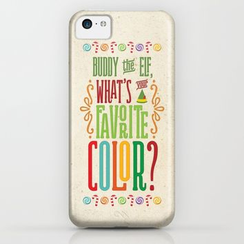 Buddy the Elf, What's Your Favorite Color? iPhone & iPod Case by Noonday Design | Society6