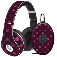 Black Raspberry Polka Dots Skin for the Beats Studio Headphones & Case by skinzy.com