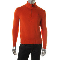 Polo Ralph Lauren Mens Knit Funnel Neck Pullover Sweater