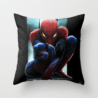 The amazing spiderman Throw Pillow by Emiliano Morciano (Ateyo) | Society6