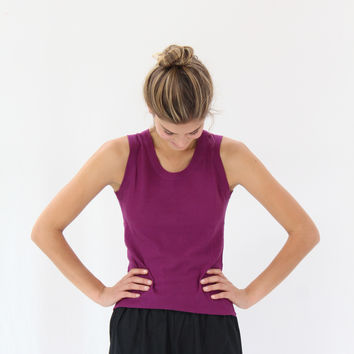 Lina Rennell Tank Cotton / Silk Knit Grape