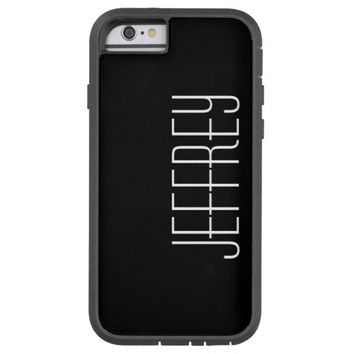 iPhone 6 Case, Black and White, Personalized Tough Xtreme iPhone 6 Case