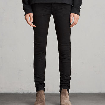 ALLSAINTS CA: Mens Bank Cigarette Skinny Jeans (black)