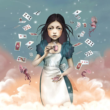 It's time for tea Alice Art Print by Saga-Mariah