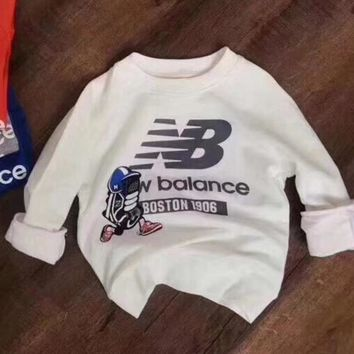 New Balance Girls Boys Children Baby Toddler Kids Child Fashion Casual Top Sweater Pullover