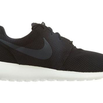 DCCKIN2 Nike Roshe One Mens 511881-010 Black Sail Anthracite Mesh Running Shoes Size 13