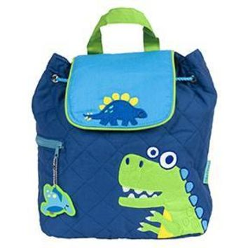Personalized Quilted Stephen Joseph Backpack Dino Blue