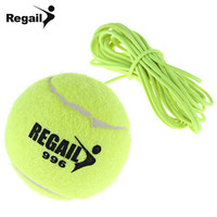 2016 New Single Package Drill Exercise Resiliency Tennis Balls Trainer With String Replacement Rubber Woolen Neon Green