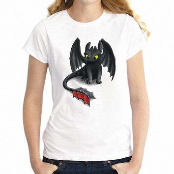 Women's T Shirt Toothless The Night Fury Dragon Awesome Girl's Tee