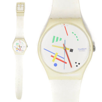 Vintage 80s Swatch Swiss Vasily Maxi Watch Wall Clock
