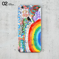 Rainbow Graffiti Painting Soft Silicon Phone Cover Case for Apple iPhone 6 6s