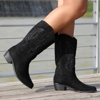 Jessica Cowgirl Boots (Black)