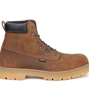 "Irish Setter Mens 6"" Work Soft Toe Boots Hopkins WP Brown 83613"