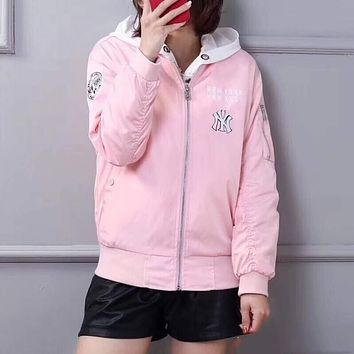 MLB NY Lover Casual Embroidery Coat Jacket Cardigan