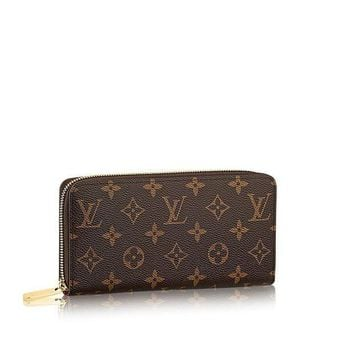 DCCK Louis Vuitton Monogram Canvas Fucsia Zippy Wallet M41895