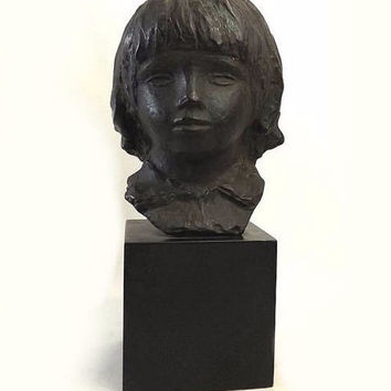 1958 Alva Studios Museum Replica Renoir's Head Of Coco Cast Bust Art Sculpture