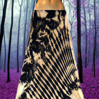 Winter Solstice Tie Dyed Maxi Skirt