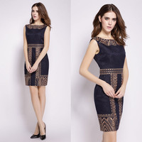 Beautiful Embroidery Bodycon Lace Short Dress