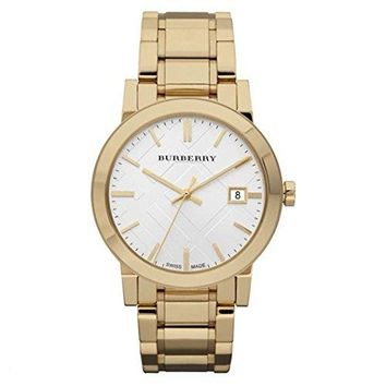Burberry Watch, Men's Swiss Gold Ion-Plated Stainless Steel Bracelet 38mm BU9003