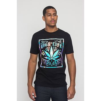 High Life 3D Iridescent Leaf T-Shirt