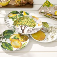 Lemon Melamine Salad Plate, Mixed set of 4