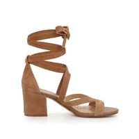 Sheri Ankle Wrap Block Heel