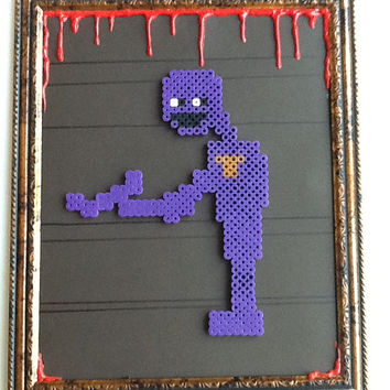 Five Nights at Freddy's Purple Guy Framed Art