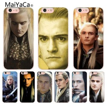 MaiYaCa Lord Of The Rings Legolas Coque Shell Phone Case Transparent flimsy for iPhone 8 7 6 6S Plus X 5 5S SE 5C Mobile Cases
