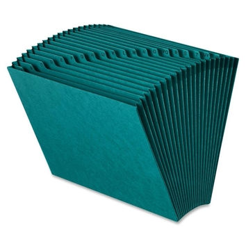 smead manufacturing company expanding files, w/o flap, 21 pockets, letter, teal Case of 2