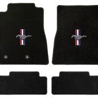 Mustang Carpeted Floor Mats Black