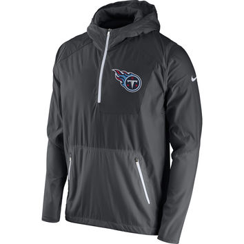 1e4f9136a Men s Tennessee Titans Nike Anthracite Vapor Speed Fly Rush Half-Zip Jacket
