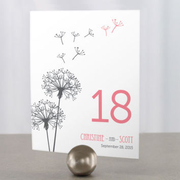 Dandelion Wishes Table Number Numbers Pack of 12