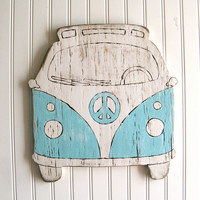 VW Bus Sign Beach Bus Summer Peace Microbus