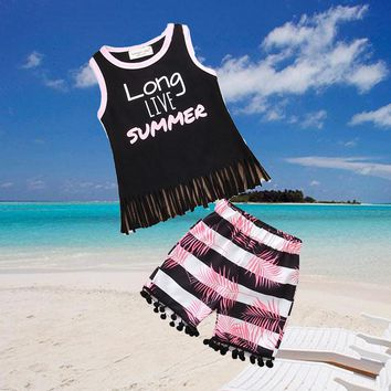 Long Live Summer Baby Girl and Kids Outfit Set