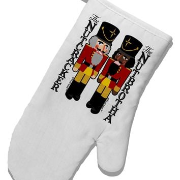 The Nutcracker and Nutbrotha White Printed Fabric Oven Mitt by TooLoud