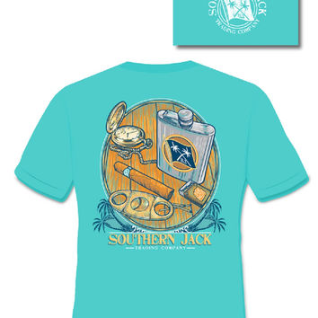 Southern Jack Apparel Flask Comfort Colors Unisex Frass Bright T Shirt