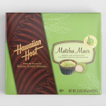 Hawaiian Host White Chocolate Matcha Macs Box
