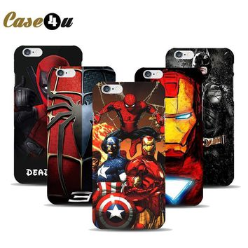Deadpool Dead pool Taco Marvel Avengers Superhero Case For coque iPhone 7 7plus 6 6s 5 5s SE iphone6 Hard Phone Cover  Spiderman Batman Capinhas AT_70_6