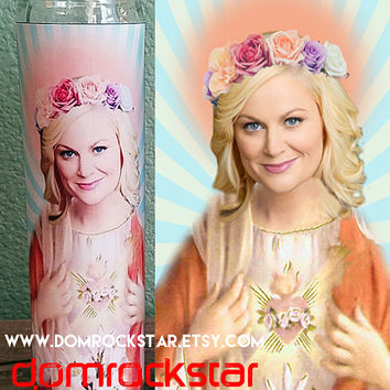 Saint Amy Poehler Candle - Leslie Knope Prayer Candle
