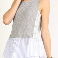 Sleeveless Layered Look Top