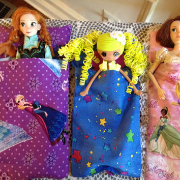 Doll Sleeping bag with attached pillow Disney Princess Equestria Girls Lalaloopsy Girls Elf on the Shelf